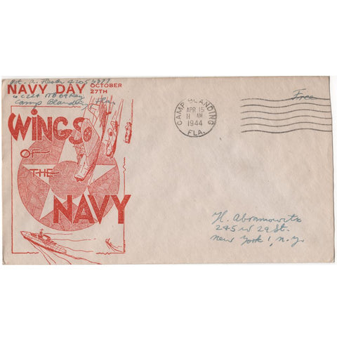 "Apr. 15, 1944 ""Wings of the Navy"" WW2 Patriotic Covers"