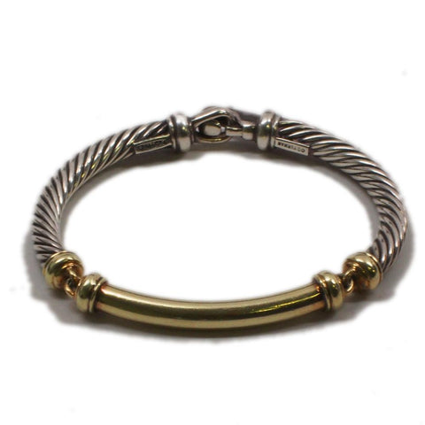 David Yurman Metro Bracelet 14K Gold & Sterling Silver