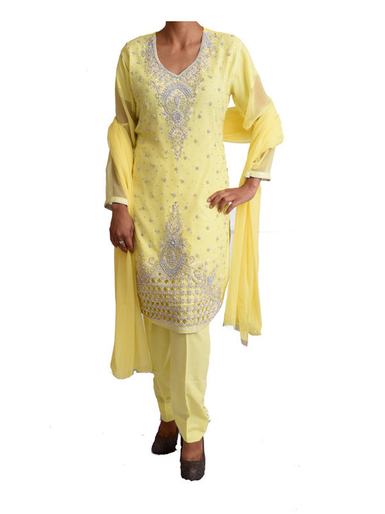 Lemon Colored Ready to Wear 3pcs Outfit