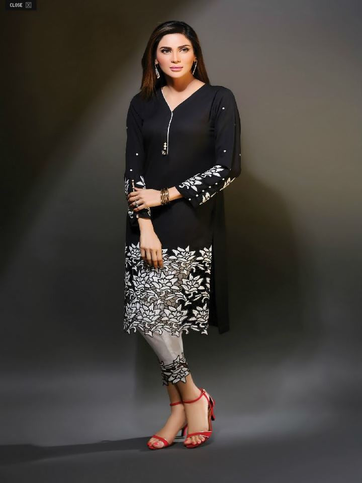 Ready to Wear Black Chiffon Outfit
