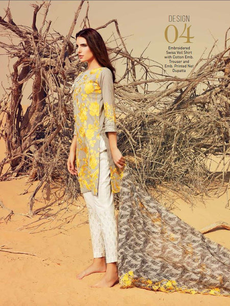 Charizma Embroidered Swiss Voil Collection - SS04