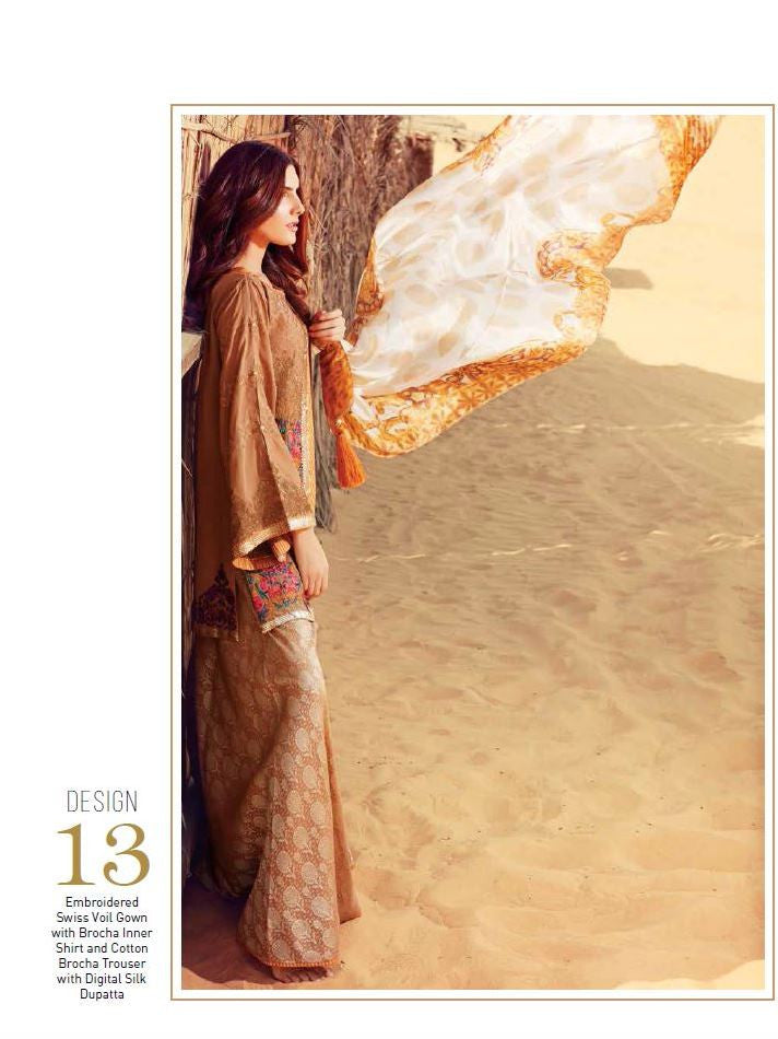 Charizma Embroidered Swiss Voil Collection - SS13