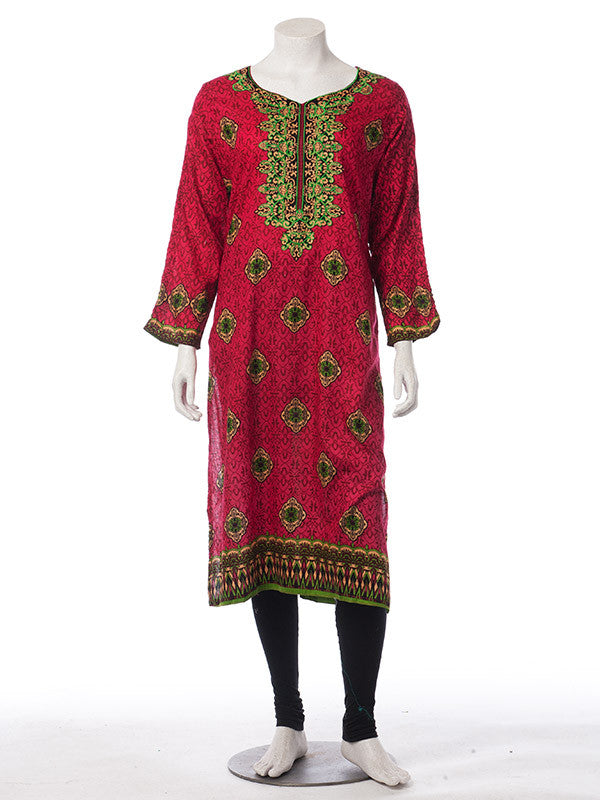 Punch Pink Digital Printed Lawn Outfit