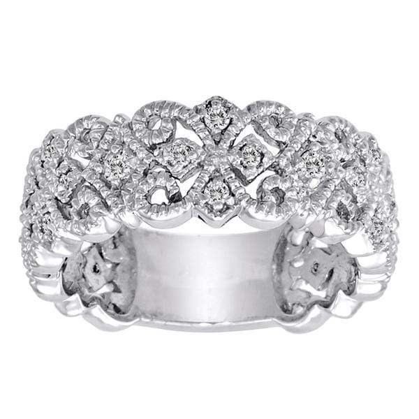 Ring 1/4 Carat Diamond 14K Gold Scrolling Floral Fashion Ring with VS Natural Diamonds #9