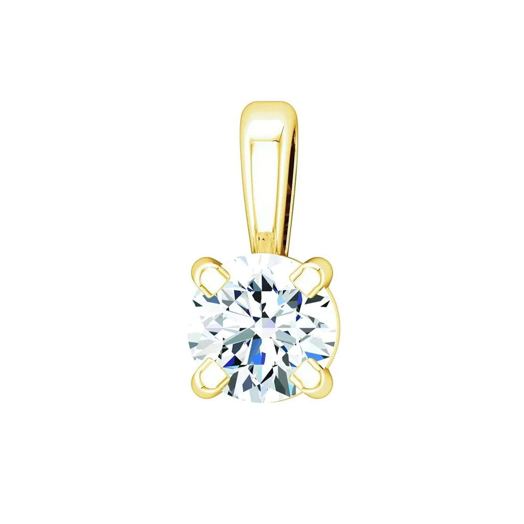 "Necklace 14K Yellow Gold / GH Color VS Clarity (Best) 14K 1/10 Carat Diamond Pendant with Adjustable 16-18"" Necklace"