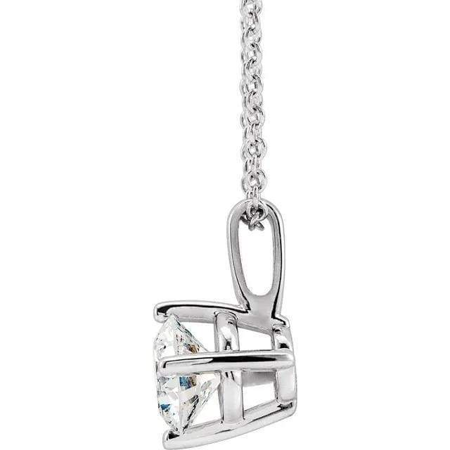 "Necklace 14K 1/2 Carat Diamond Pendant with Adjustable 16-18"" Necklace"
