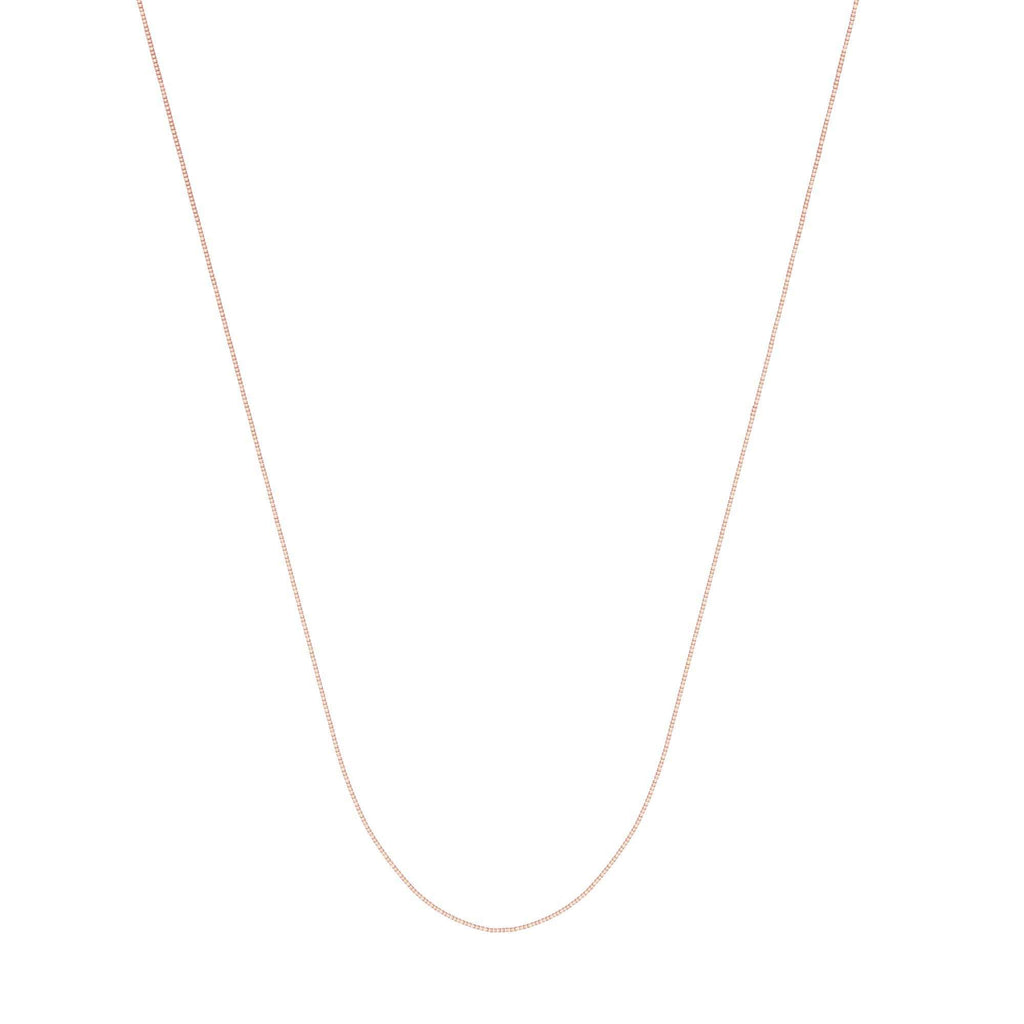 Chain 14K Gold 0.55mm Box Chain with Lobster Claw Clasp