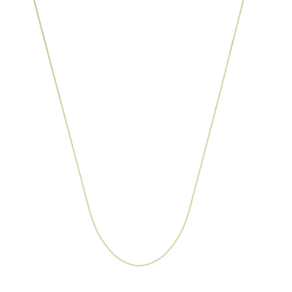 Chain 14K Gold 0.66 mm Box Chain with Lobster Claw Clasp