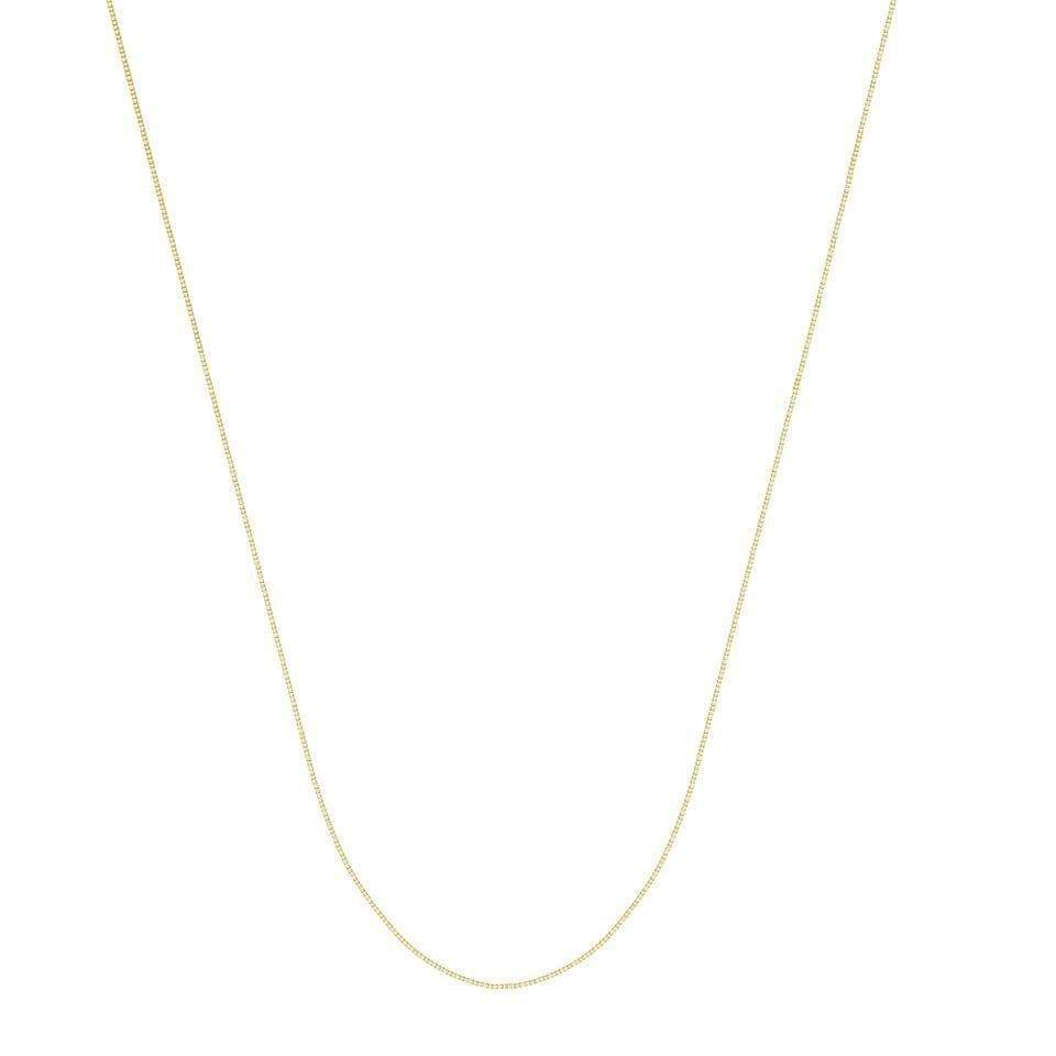 Chain 14K Gold 0.73 mm Box Chain with Lobster Claw Clasp