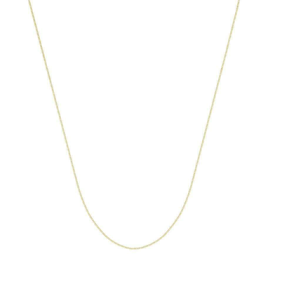 Chain 14K Gold 0.96 mm Box Chain with Lobster Claw Clasp