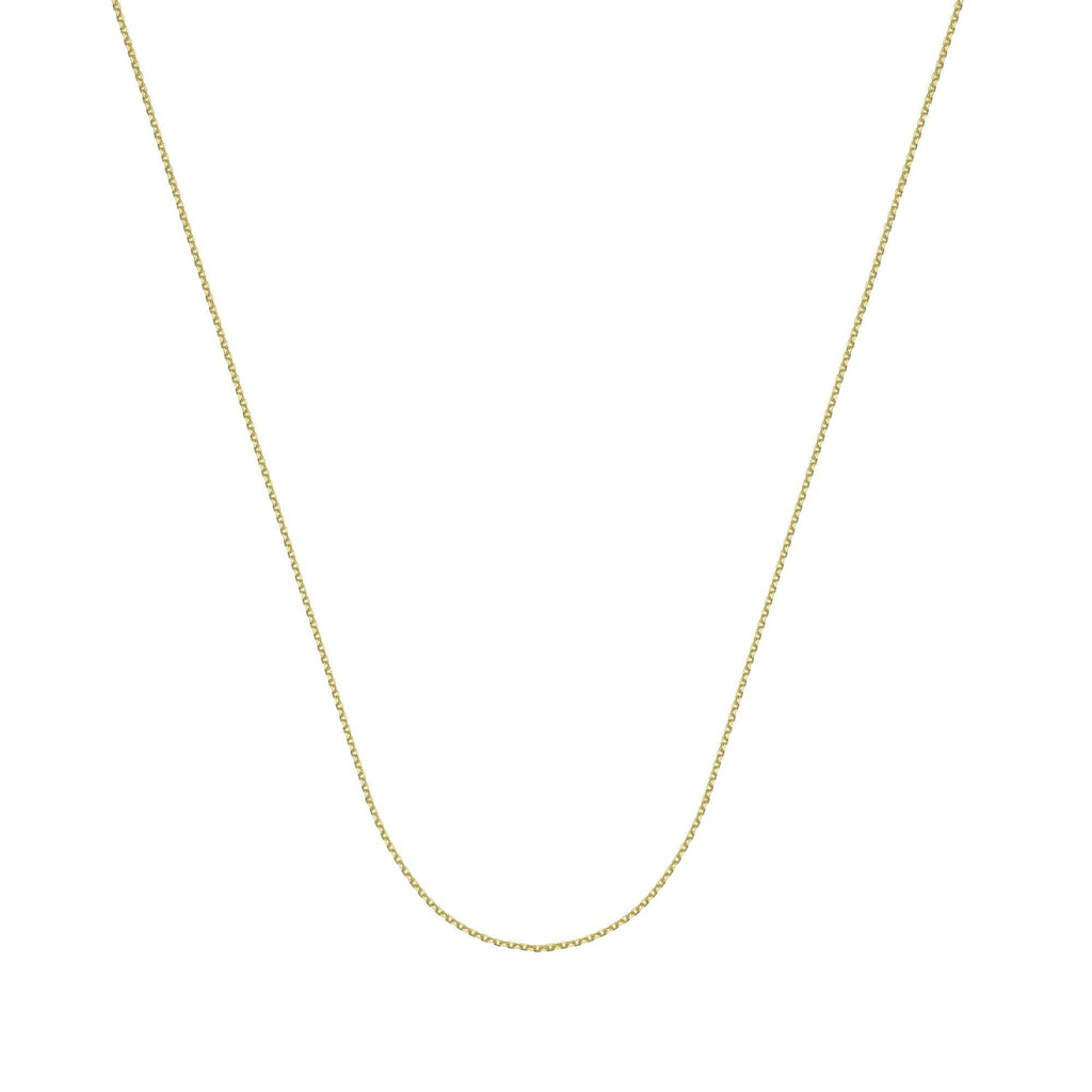 Chain 14K Gold 1.05 mm Diamond Cut Cable Chain with Lobster Claw Clasp