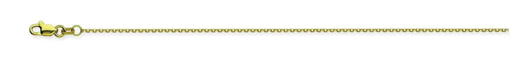 Chain 16 inches / Yellow 14K Gold 1.05 mm Diamond Cut Cable Chain with Lobster Claw Clasp