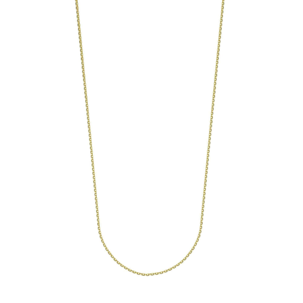 Chain 14K Gold 1.15 mm Diamond Cut Cable Chain with Lobster Claw Clasp