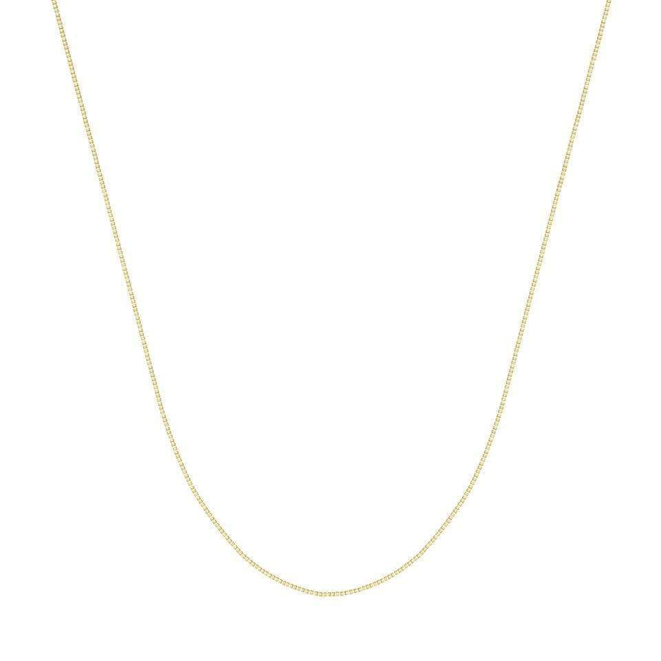 Chain 14K Gold 1.20 mm Box Chain with Lobster Claw Clasp