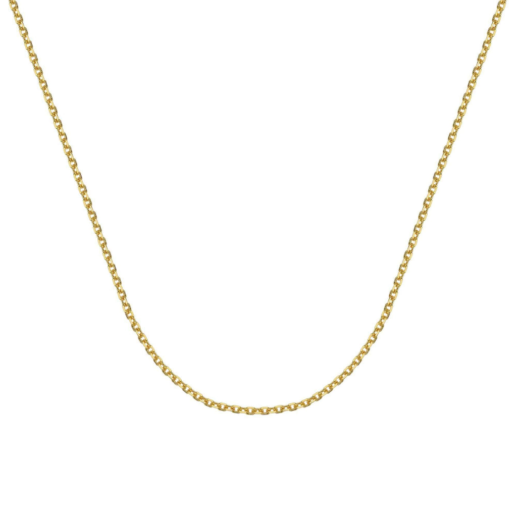 Chain 14K Gold 1.80 mm Diamond Cut Cable Chain with Lobster Claw Clasp