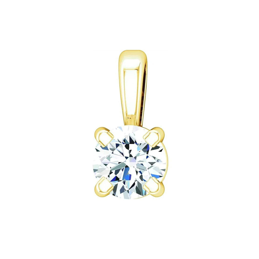 "Necklace 14K Yellow Gold / 1/10 Carat / GH Color VS Clarity (Best) 14K Karat Diamond Pendant with Adjustable 16-18"" Necklace"