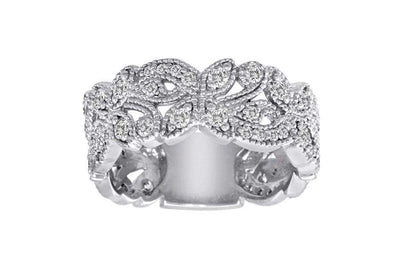 3/4 Carat Diamond 14K Gold Scrolling Floral Fashion Ring with VS Natural Diamonds #4