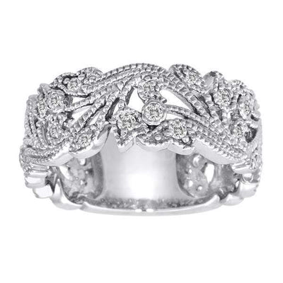 3/8 Carat Diamond 14K Gold Scrolling Floral Fashion Ring with VS Natural Diamonds #5