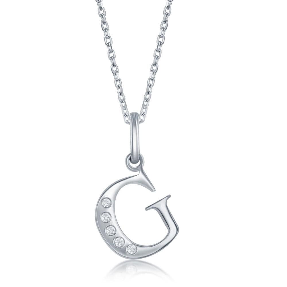 Necklace G .925 Sterling Silver Initial Necklace