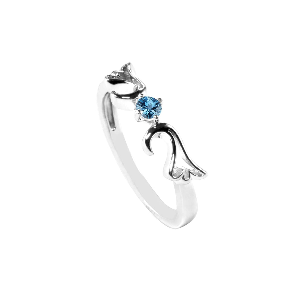 Ring Aquamarine Guardian Angel Ring- March