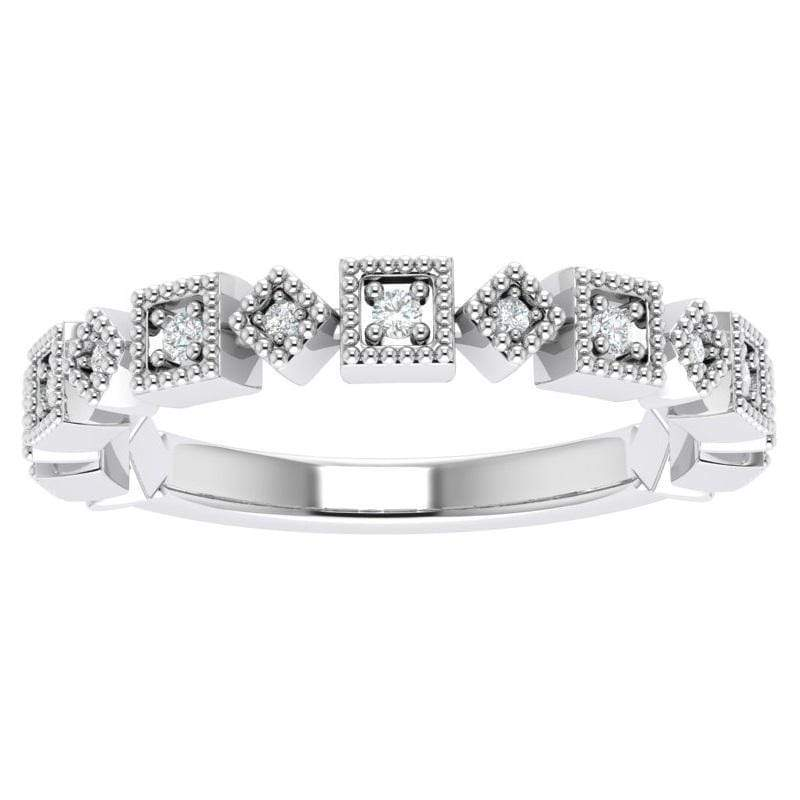 Ring 14K White Gold Ava Story & Hearts Stackable Diamond Band available in 14K, 18K, and Platinum Shop Women's Stackable Bands | Storyandhearts.com | US