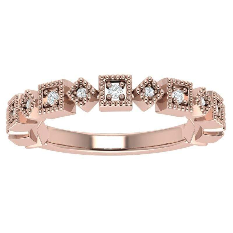 Ring 14K Rose Gold Ava Story & Hearts Stackable Diamond Band available in 14K, 18K, and Platinum Shop Women's Stackable Bands | Storyandhearts.com | US