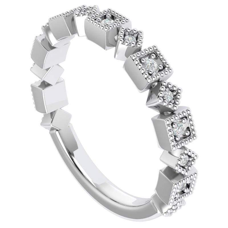 Ring Ava Story & Hearts Stackable Diamond Band available in 14K, 18K, and Platinum Shop Women's Stackable Bands | Storyandhearts.com | US