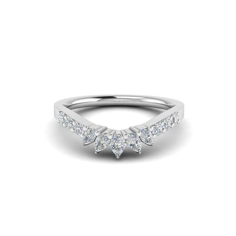 Ring Ayla Custom Contour Diamond Wedding Ring