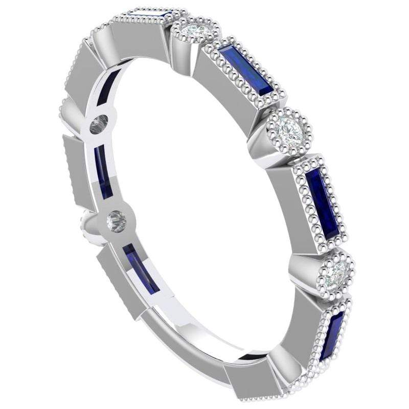 Ring Bella Story & Hearts Stackable Sapphire and Diamond Band
