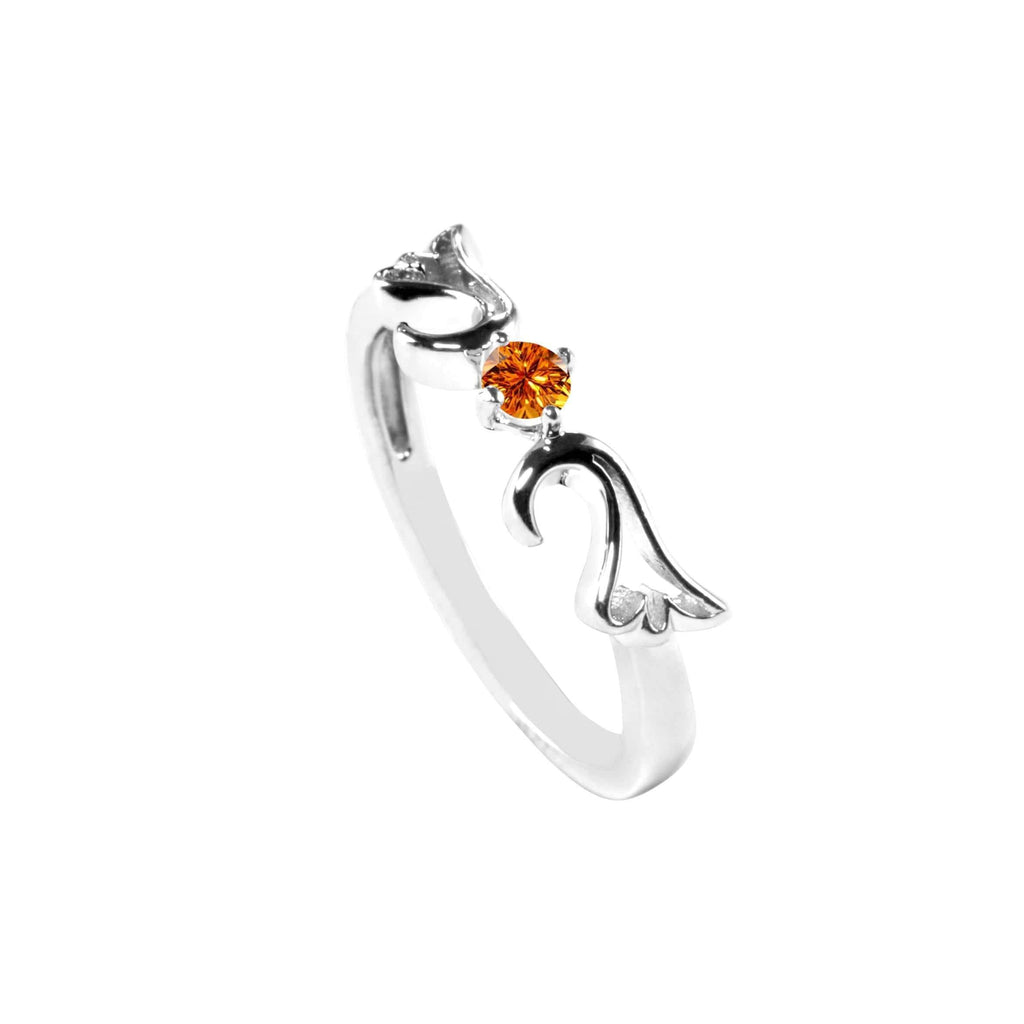 Ring Citrine Guardian Angel Ring- November