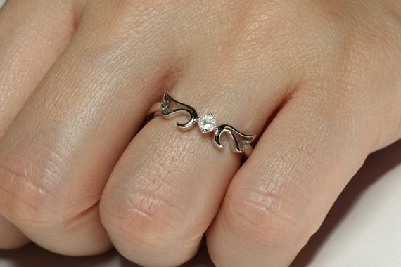 Ring Diamond (.10 ct GH/SI) Guardian Angel Ring- April