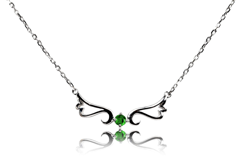Necklace Emerald Guardian Angel Necklace- May