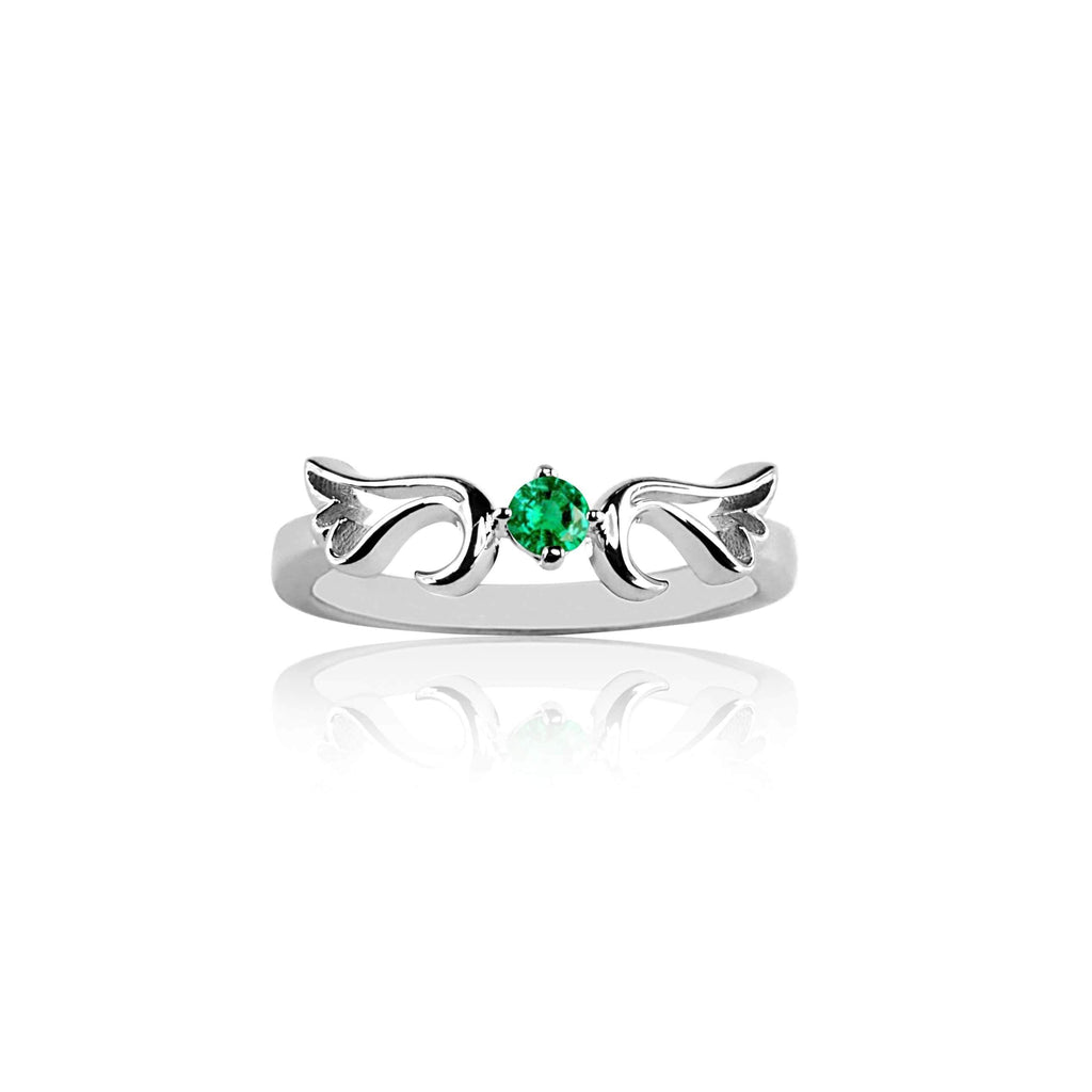 Ring Emerald Guardian Angel Ring- May