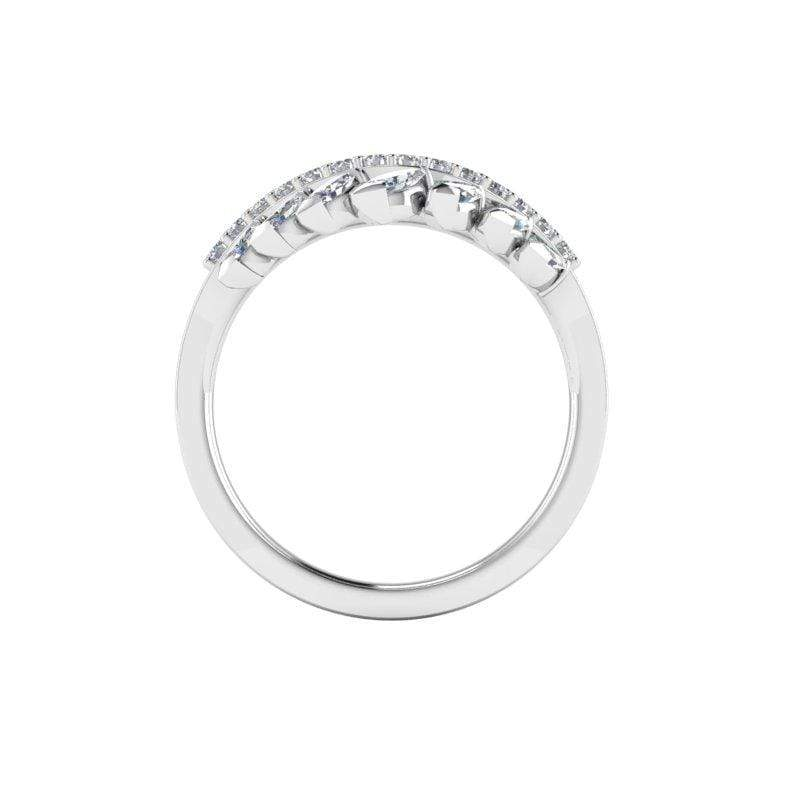 Farrah Custom Contour Diamond Wedding Ring