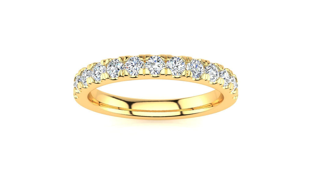 Ring 14K YELLOW GOLD Micropavé 1/2 Carat Diamond Wedding Band MicropavŽ Venus Ring  1/2 CT | Storyandhearts.com