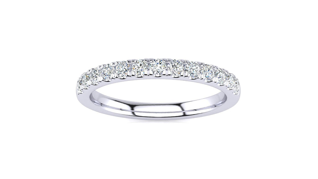 Ring 10K WHITE GOLD Micropavé 1/3 Carat Diamond Wedding Band Micropave Venus Ring  1/3 CT | Storyandhearts.com