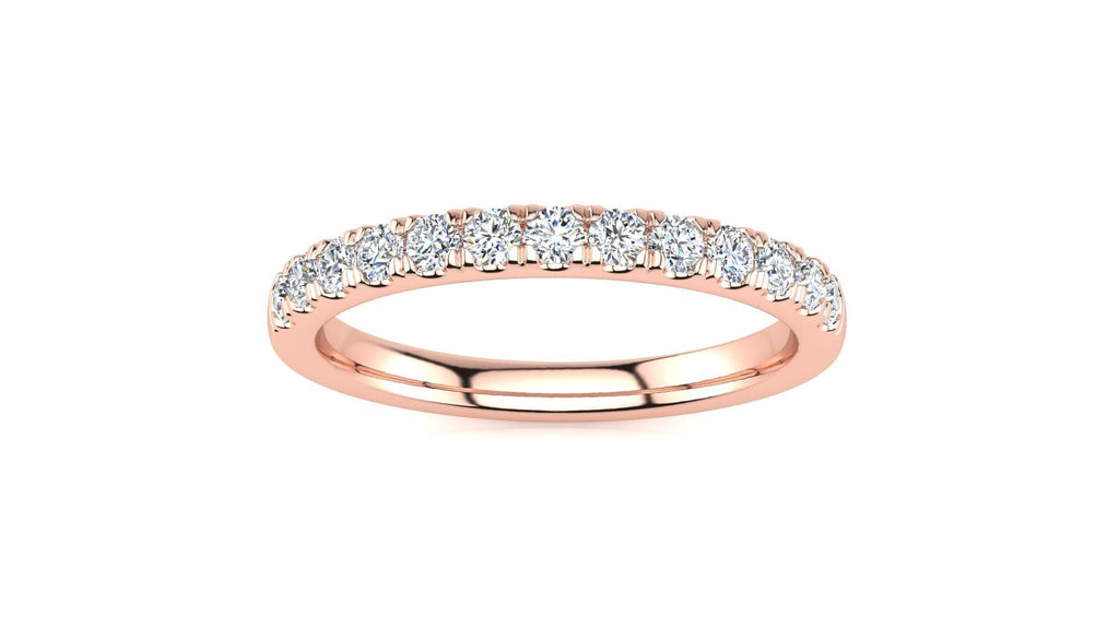 Ring 14K ROSE GOLD Micropavé 1/3 Carat Diamond Wedding Band Micropave Venus Ring  1/3 CT | Storyandhearts.com