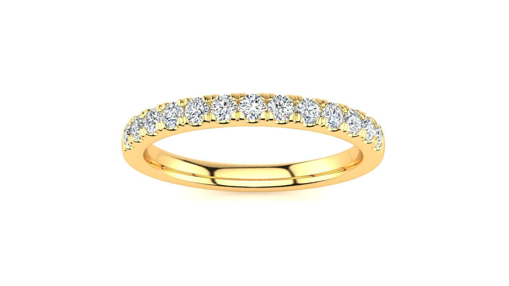 Ring 10K YELLOW GOLD Micropavé 1/3 Carat Diamond Wedding Band MicropavŽ Venus Ring  1/3 CT | Storyandhearts.com