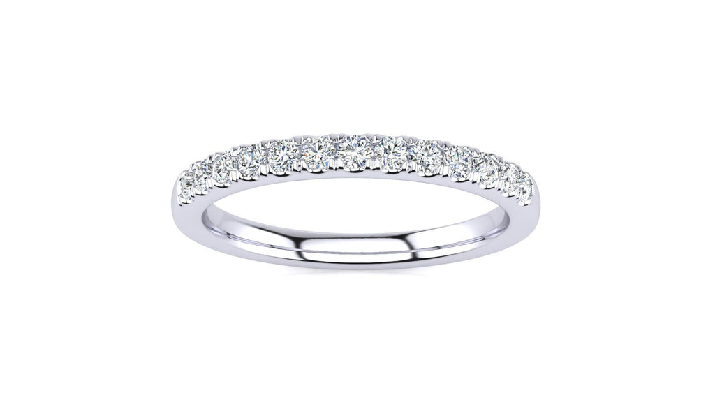 Ring 10K WHITE GOLD Micropavé 1/4 Carat Diamond Wedding Band Micropavé Venus Ring 1/4 CT | Storyandhearts.com