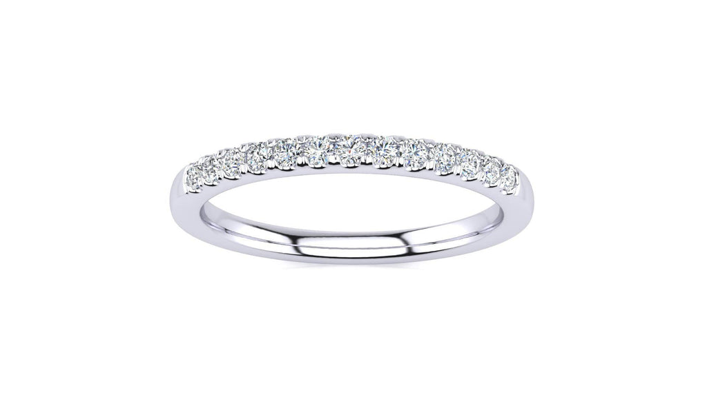 Ring 10K WHITE GOLD Micropavé 1/5 Carat Diamond Wedding Band Micropavé Venus Ring  1/5 CT | Storyandhearts.com