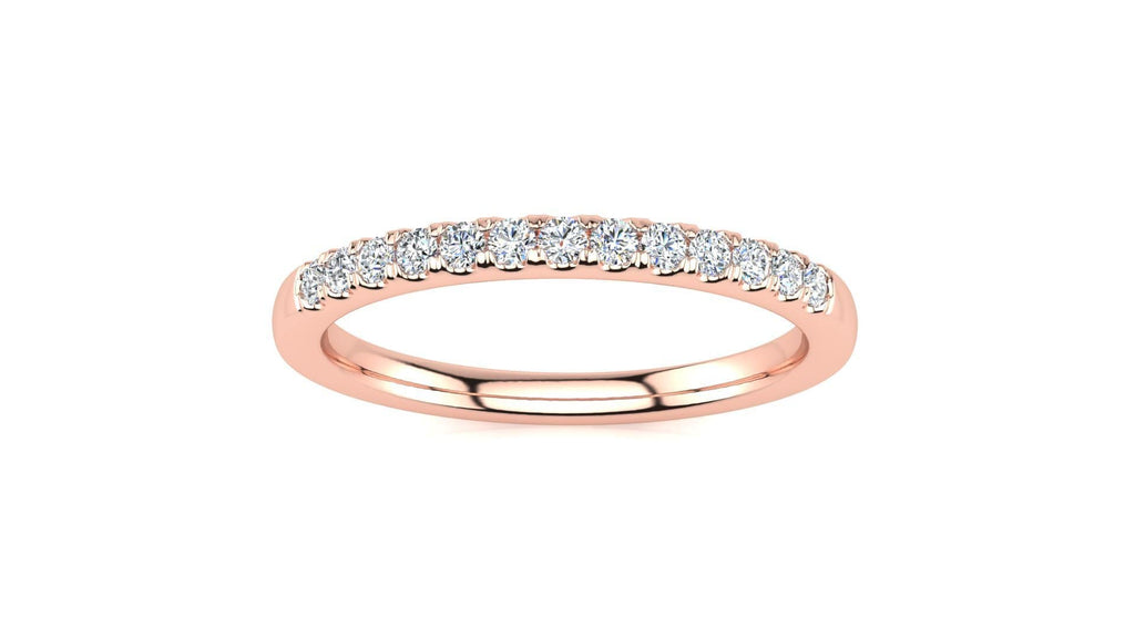 Ring 14K ROSE GOLD Micropavé 1/5 Carat Diamond Wedding Band Micropavé Venus Ring  1/5 CT | Storyandhearts.com