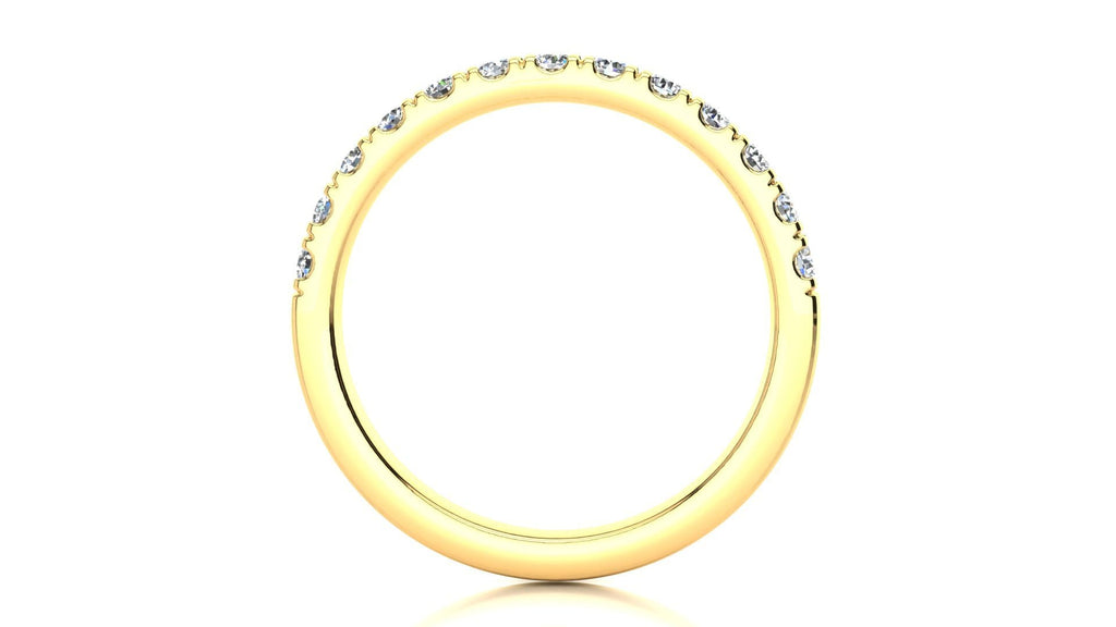 Ring Micropavé 3/8 Carat Diamond Wedding Band