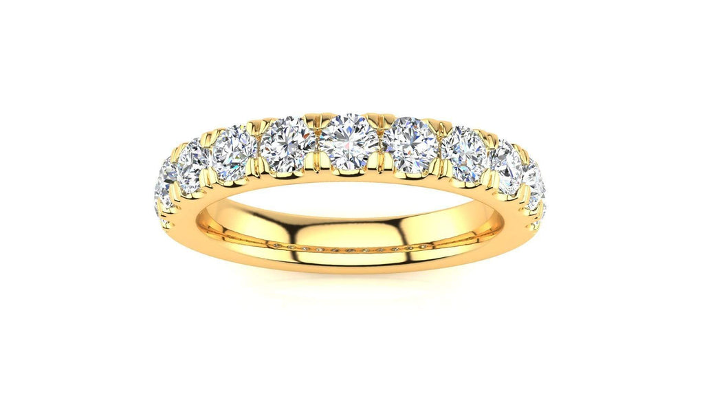 Ring 10K YELLOW GOLD MicropavŽ 1 Carat Diamond Wedding Band