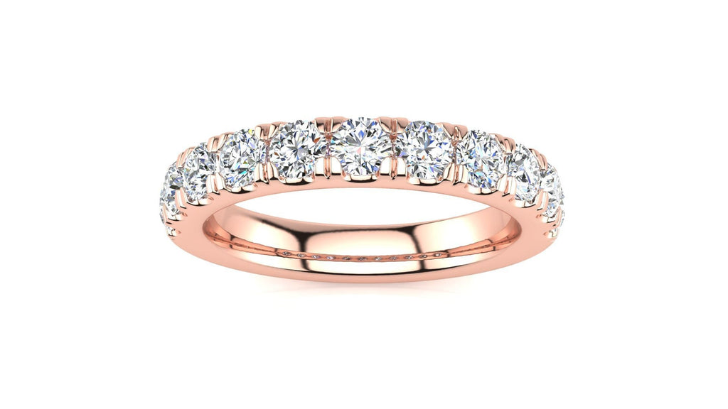 Ring 14K ROSE GOLD MicropavŽ 1 Carat Diamond Wedding Band