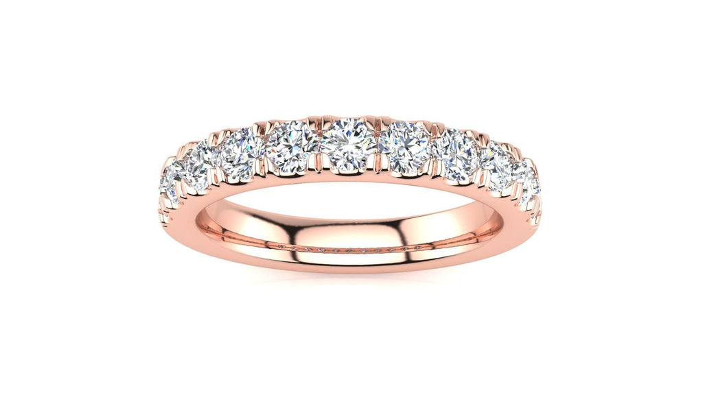 Ring 14K ROSE GOLD MicropavŽ 3/4 Carat Diamond Wedding Band