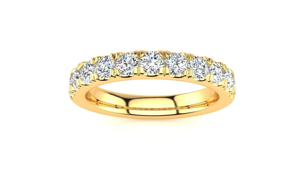 Ring 10K YELLOW GOLD MicropavŽ 3/4 Carat Diamond Wedding Band