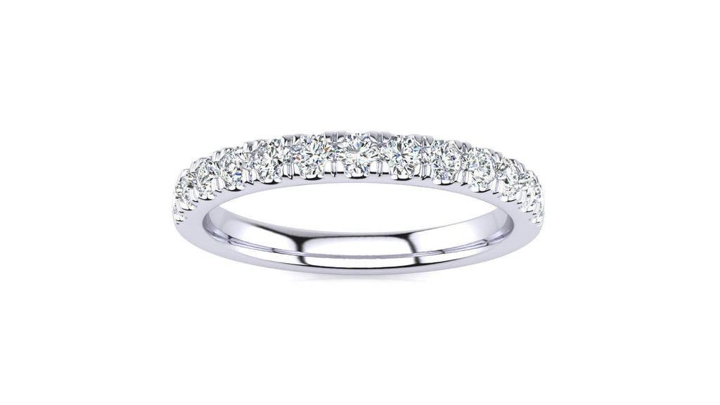 Ring 10K WHITE GOLD MicropavŽ 3/8 Carat Diamond Wedding Band
