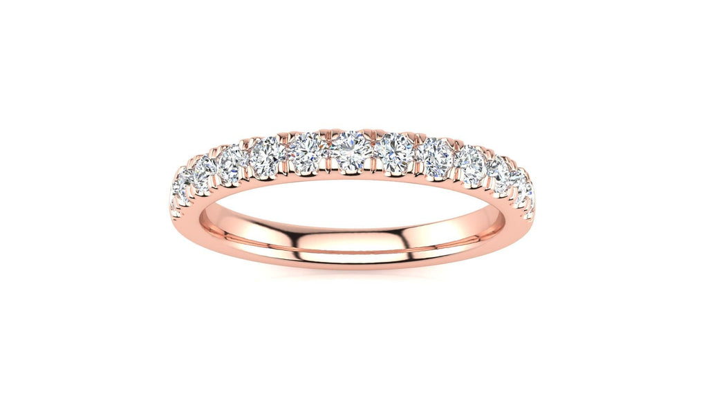 Ring 14K ROSE GOLD MicropavŽ 3/8 Carat Diamond Wedding Band