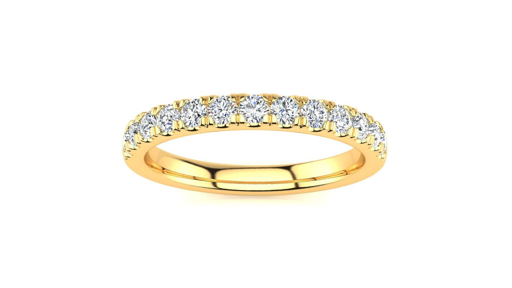 Ring 10K YELLOW GOLD MicropavŽ 3/8 Carat Diamond Wedding Band