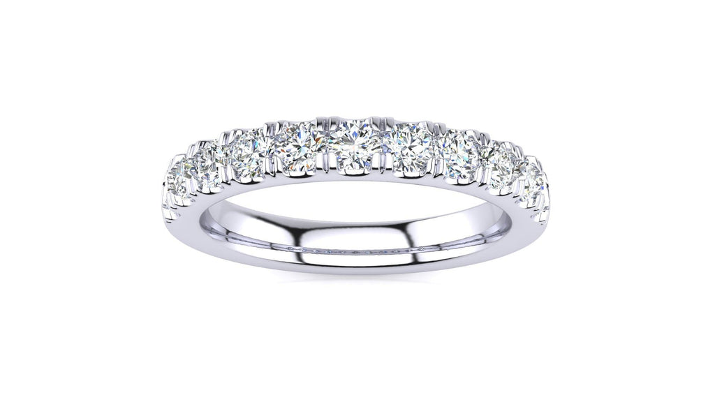 Ring 10K WHITE GOLD MicropavŽ 5/8 Carat Diamond Wedding Band